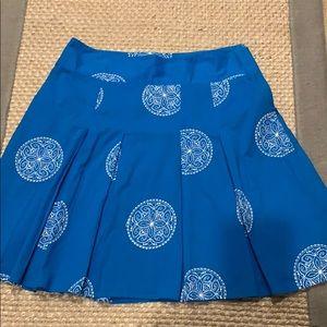 Ann Taylor Peacock Blue Embroidery Skirt Sz 10